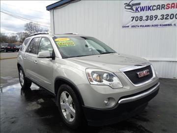 2008 GMC Acadia for sale at Kwik Car Sales in Robbins IL