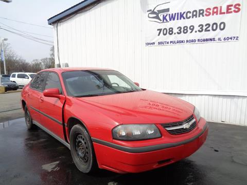 2005 Chevrolet Impala for sale at Kwik Car Sales in Robbins IL