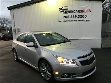 2012 Chevrolet Cruze for sale at Kwik Car Sales in Robbins IL