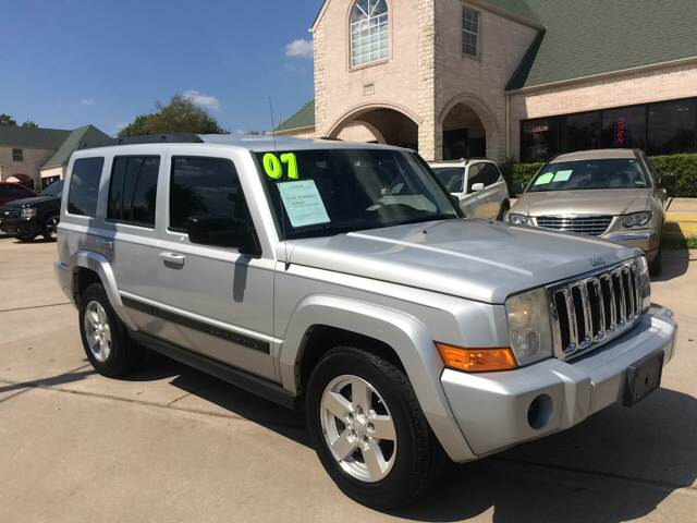 2007 Jeep Commander For Sale At Any Cars Inc In Grand Prarie TX