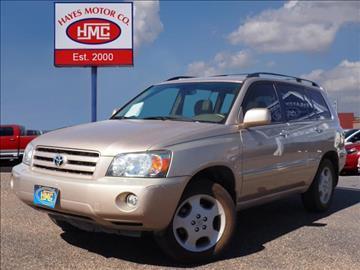 2007 Toyota Highlander for sale in Lubbock, TX