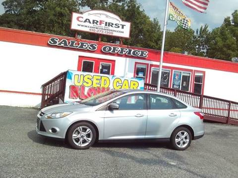 2013 Ford Focus for sale at CARFIRST BALTIMORE in Baltimore MD