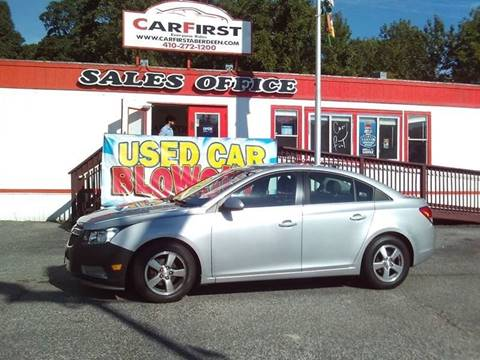 2013 Chevrolet Cruze for sale at CARFIRST BALTIMORE in Baltimore MD
