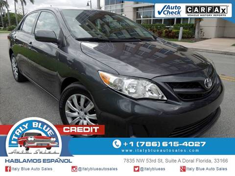 2012 Toyota Corolla for sale in Doral, FL