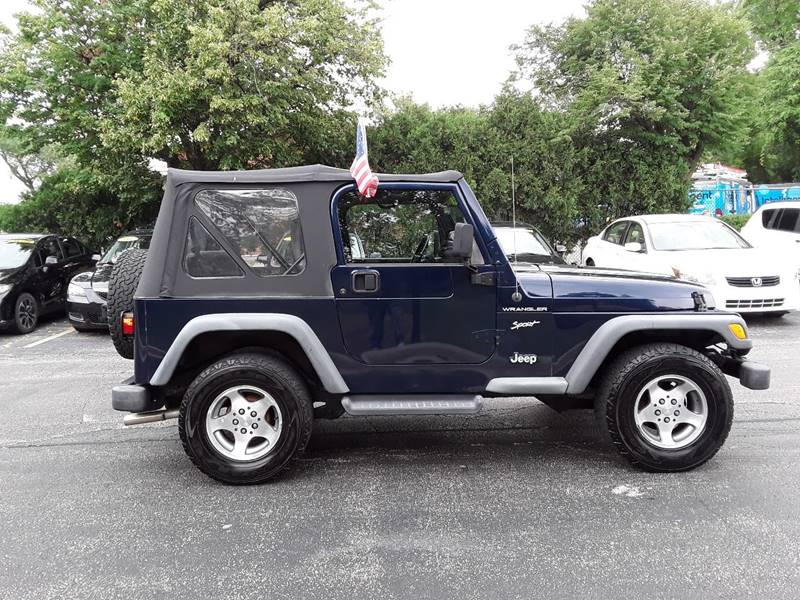 2002 Jeep Wrangler For Sale At Bullet Auto Sales In Mount Prospect IL