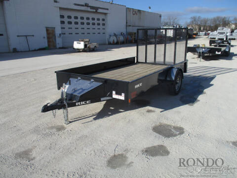2019 Rice Trailers Single Axle Utility SST7612 for sale in Sycamore, IL