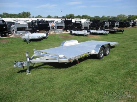 2021 Aluma Car Hauler 8218TILT-TA-EL-RTD for sale at Rondo Truck & Trailer in Sycamore IL