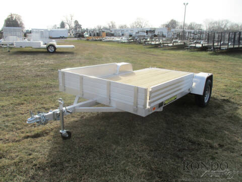 2021 Aluma Aluminum Single Axle Utility 8 for sale at Rondo Truck & Trailer in Sycamore IL