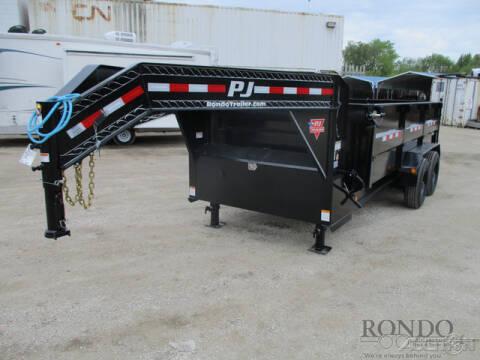 2021 PJ Trailer DE Gooseneck Dump DER16S2BTSK for sale at Rondo Truck & Trailer in Sycamore IL