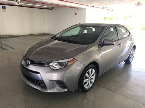 2016 Toyota Corolla for sale at CHASE MOTOR in Miami FL
