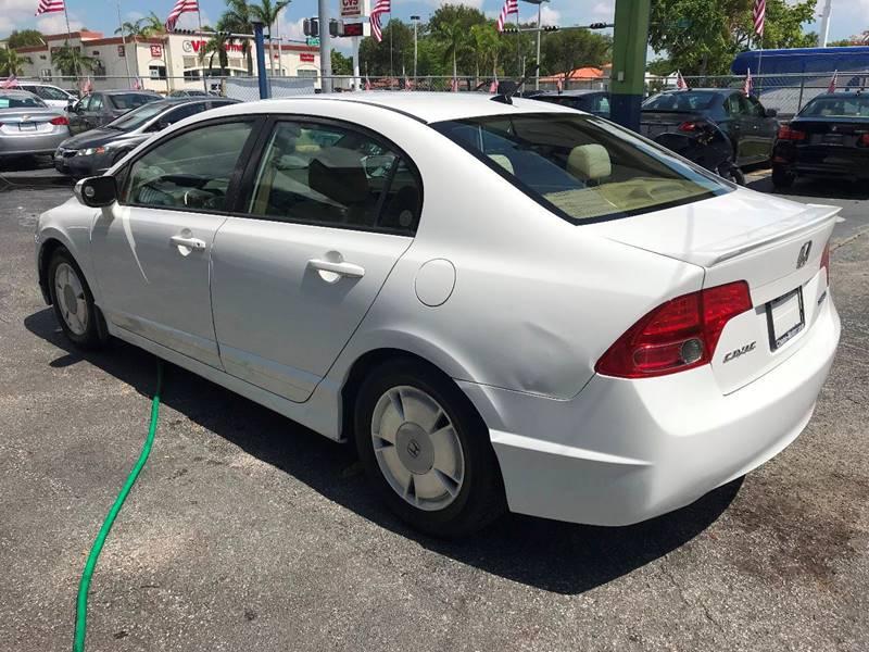 2007 Honda Civic Hybrid 4dr Sedan In Miami FL - CHASE MOTOR