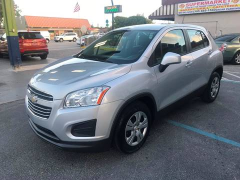 2016 Chevrolet Trax for sale at CHASE MOTOR in Miami FL