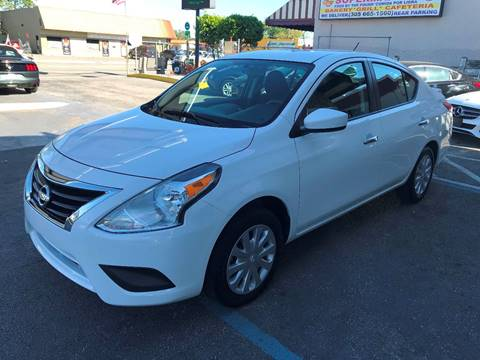 2016 Nissan Versa for sale at CHASE MOTOR in Miami FL
