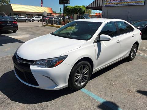 2016 Toyota Camry for sale at CHASE MOTOR in Miami FL