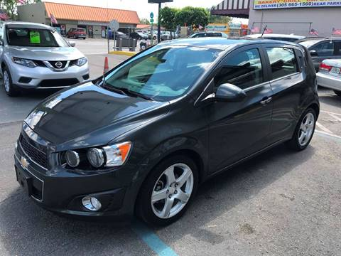 2016 Chevrolet Sonic for sale at CHASE MOTOR in Miami FL