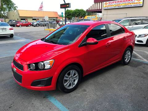 2014 Chevrolet Sonic for sale at CHASE MOTOR in Miami FL