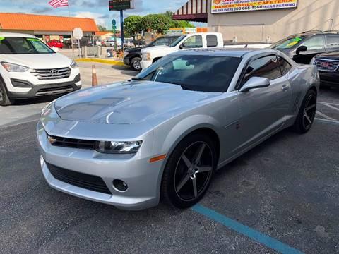 2015 Chevrolet Camaro for sale at CHASE MOTOR in Miami FL