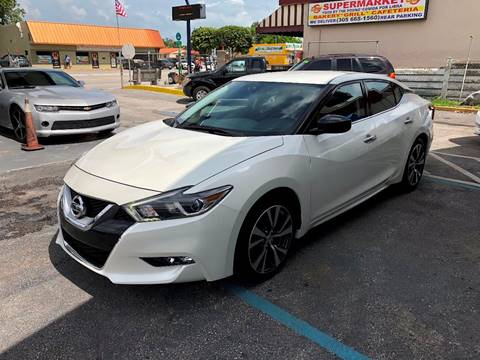 2017 Nissan Maxima for sale at CHASE MOTOR in Miami FL