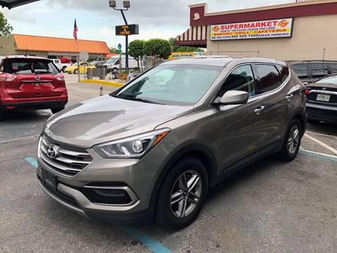 2017 Hyundai Santa Fe Sport for sale at CHASE MOTOR in Miami FL