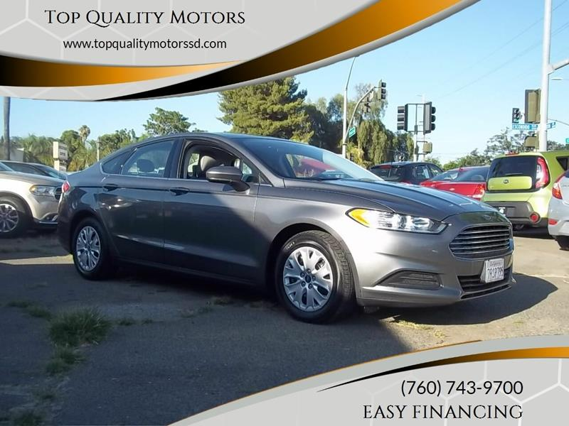 2013 Ford Fusion for sale at Top Quality Motors in Escondido CA