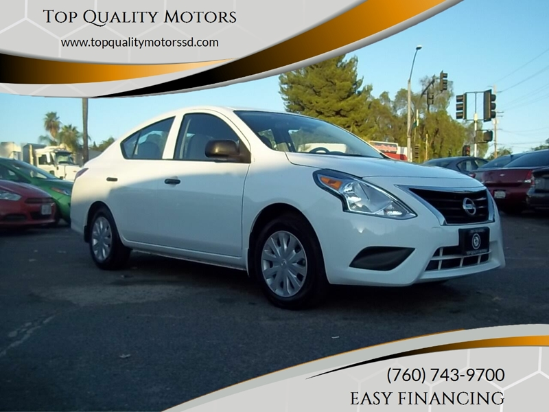 2015 Nissan Versa for sale at Top Quality Motors in Escondido CA