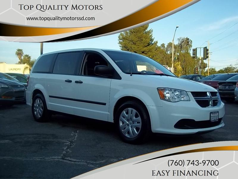 2014 Dodge Grand Caravan for sale at Top Quality Motors in Escondido CA