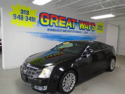 2011 Cadillac CTS for sale at Great Ways Auto Finance in Redford MI