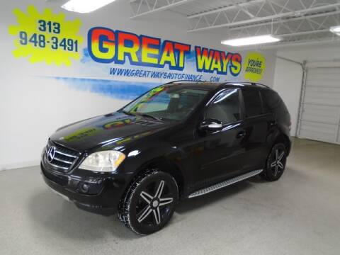 2007 Mercedes-Benz M-Class for sale at Great Ways Auto Finance in Redford MI
