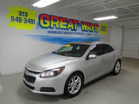 2014 Chevrolet Malibu for sale at Great Ways Auto Finance in Redford MI