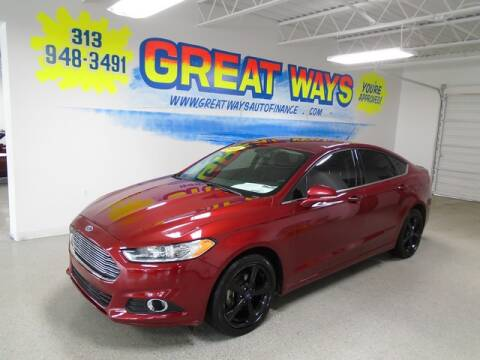 2016 Ford Fusion for sale at Great Ways Auto Finance in Redford MI