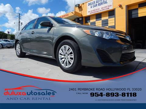 2012 Toyota Camry for sale at Dulux Auto Sales Inc & Car Rental in Hollywood FL