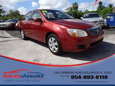 2008 Kia Spectra for sale at Dulux Auto Sales Inc & Car Rental in Hollywood FL