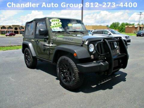 2015 Jeep Wrangler Willys Wheeler Edition for sale at CHANDLER CHEVROLET in Madison IN
