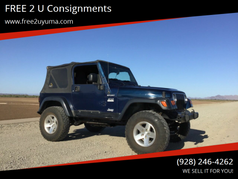 Used Jeep Wrangler For Sale In Yuma Az Carsforsale Com