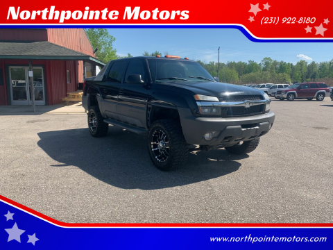 2002 Chevrolet Avalanche for sale at Northpointe Motors in Kalkaska MI