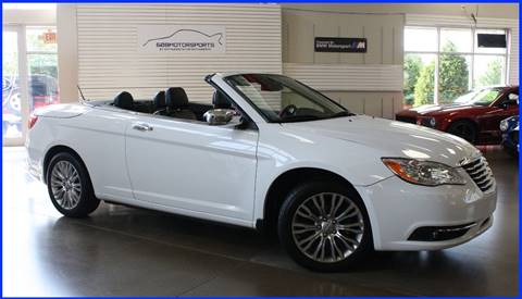 2011 Chrysler 200 Convertible for sale at 608 Motorsports in Madison WI