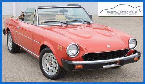 1982 FIAT Spider 124 for sale at 608 Motorsports - Sold Inventory in Sun Prairie WI