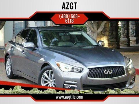 2015 Infiniti Q50 for sale at AZGT LLC in Phoenix AZ