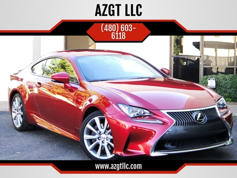 2016 Lexus RC 200t for sale at AZGT LLC in Phoenix AZ