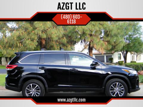 2017 Toyota Highlander for sale at AZGT LLC in Phoenix AZ