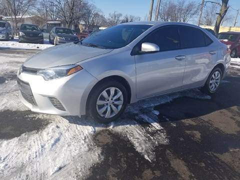 2015 Toyota Corolla for sale at Nonstop Motors in Indianapolis IN