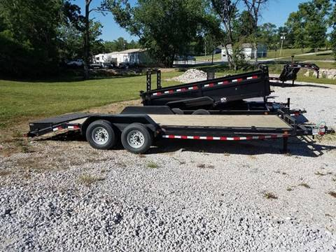 2017 Load Trail 22ft skid loader trailer