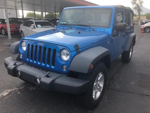 2016 Jeep Wrangler Unlimited for sale in Tucson, AZ