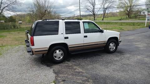 1999 Chevrolet Tahoe for sale at K & P Used Cars, Inc. in Philadelphia TN
