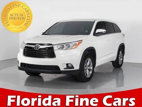 2014 Toyota Highlander for sale in West Palm Beach, FL