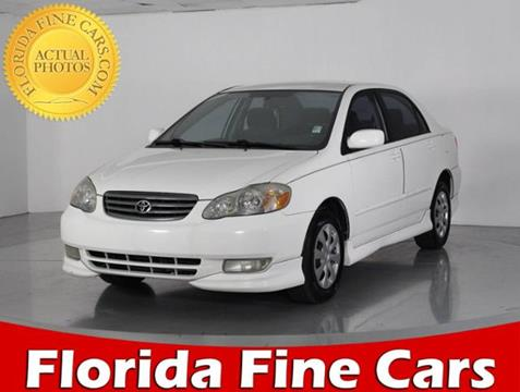 2003 Toyota Corolla for sale in West Palm Beach, FL