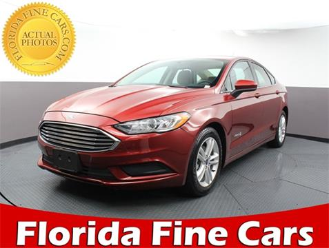 2018 Ford Fusion Hybrid for sale in West Palm Beach, FL