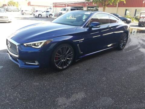2017 Infiniti Q60 Red Sport 400 for sale at Florida Fine Cars - West Palm Beach in West Palm Beach FL