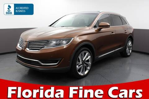 2017 Lincoln MKX Black Label for sale at Florida Fine Cars - West Palm Beach in West Palm Beach FL