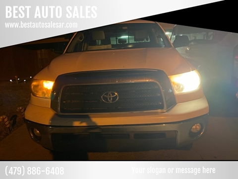 2009 Toyota Tundra for sale at BEST AUTO SALES in Russellville AR